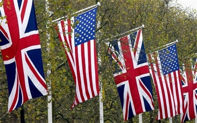 UK and USA Flags