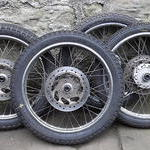 Honda ANF125 Front wheels with disc rotors
