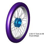 from cad model of front wheel tyre