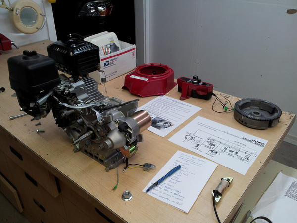 honda electric starter photos cyclekart tech forum cyclekart rh cyclekartclub com Honda GX340 Parts Diagram Honda GX270 Diagram