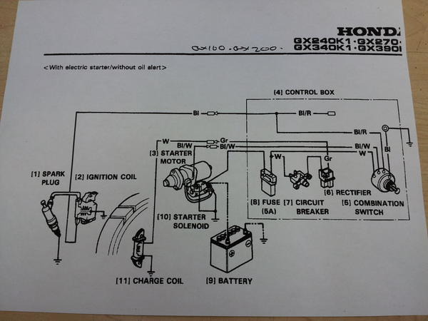 honda electric starter photos cyclekart tech forum cyclekart rh cyclekartclub com Honda GX340 Parts Diagram Honda GX390 Engine Wiring Diagram