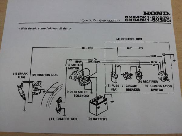 Honda Electric Starter Photos CycleKart Tech Forum CycleKart - Honda Gx200 Wiring Diagram