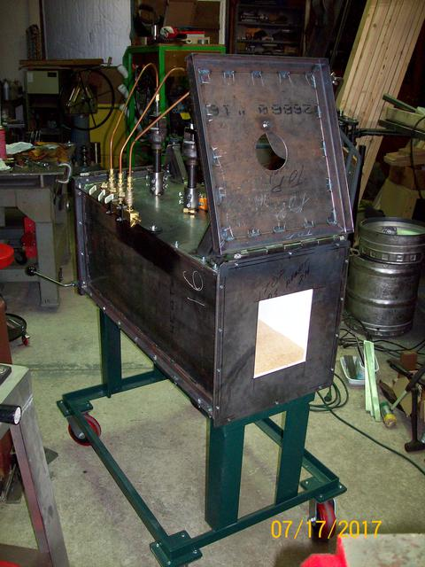 Propane forge kiln oven Finishing Touches 01.JPG